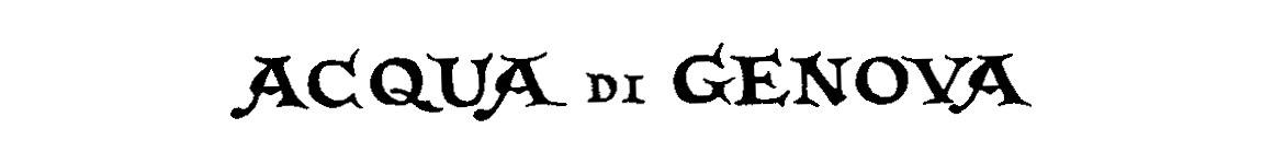 Acqua di Genova 1853
