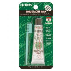 Clubman Pinaud - Moustache Wax Hang Pack - Neutral