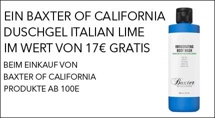 Gratisaktion Baxter of California